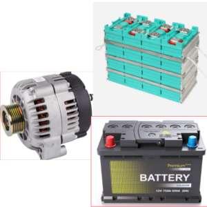 How to charge lithium and lead-acid batteries with an alternator